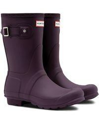 HUNTER - Original Short Waterproof Rain Boot - Lyst