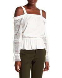 Ramy Brook - Sylvie Lace Cold Shoulder Shirt - Lyst