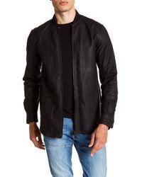 DIESEL - Cowhide Leather Zip Jacket - Lyst