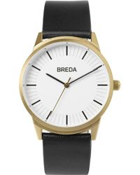 Breda - Men's Bresson Leather Strap Watch, 42mm - Lyst
