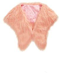 Saachi - Faux Fur Shrug - Lyst