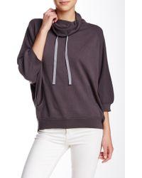 INHABIT - Cowl Neck Sweatshirt - Lyst