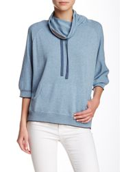 INHABIT - Cowl Neck Sweatshirt - Lyst