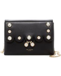 Ted Baker - Saraa Scalloped Leather Crossbody Bag - Lyst