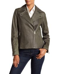 T Tahari - Skylar Leather Jacket - Lyst