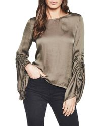 Bardot - Lulu Ruched Sleeve Top - Lyst