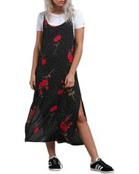 Volcom - End Of The Rose Midi Dress - Lyst