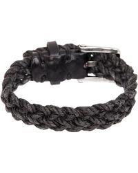 John Varvatos | Wide Leather Cuff Bracelet | Lyst