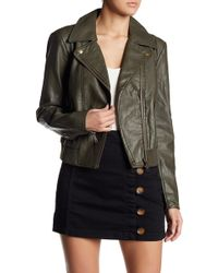 Free People - Modern Faux Leather Bomber Jacket - Lyst