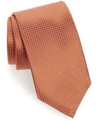 David Donahue - Grid Silk Tie - Lyst