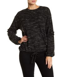 Two By Vince Camuto - Marled Knit Bubble Sleeve Shirt - Lyst