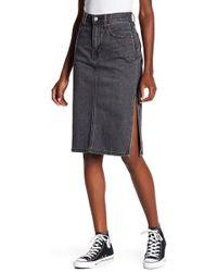 Levi's - Side Slit Jean Skirt - Lyst