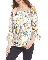 60db215126be0 Lyst - Brooks Brothers Botanical-print Cotton Poplin Shirt in White