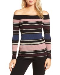Cupcakes And Cashmere - Nadria Off The Shoulder Sweater - Lyst