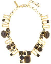 Oscar de la Renta | Geometric Resin & Swarovski Crystal Embellished Necklace | Lyst