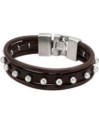 Uno De 50 - Miguitas Pal Camino Stud Leather Bracelet - Lyst