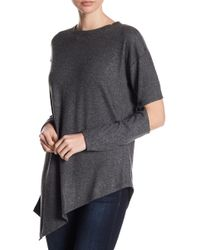 Two By Vince Camuto - Long Sleeve Cold Elbows Asymmetrical Tee - Lyst