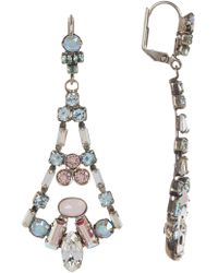 Sorrelli - Ornate Crystal Eiffel Statement Earrings - Lyst