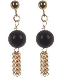 Liberty - 18k Gold Plated Sterling Silver Black Onyx & Tassel Drop Earrings - Lyst