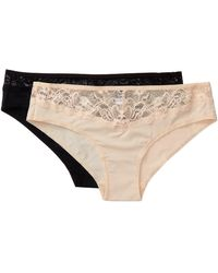 Felina - Lace Bikini Panties - Set Of 2 - Lyst