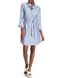 GANT - Jersey Striped Shirt Dress - Lyst