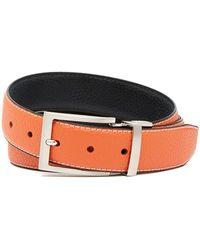 Duchamp - Reversible Pebble Grain Leather Belt - Lyst