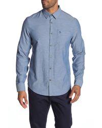 Original Penguin - Solid Long Sleeve Heritage Slim Fit Twill Shirt - Lyst