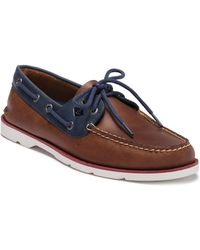Sperry Top-Sider - Leeward 2-eye Leather Nautical Boat Shoe - Wide Width Available - Lyst