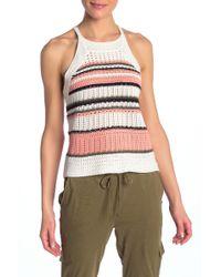 Roxy - Nomad Striped Crochet Tank - Lyst