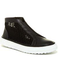 Delman - Mccay Zip Mesh Hi Top Sneaker - Lyst