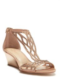 Imagine Vince Camuto - Jalen Embellished Wedge Sandal - Lyst