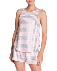 Kensie - Stripe Knit Tank - Lyst