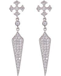 Shashi - Faith Pave Cz Drop Earrings - Lyst