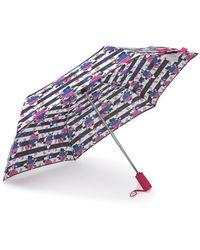 Betsey Johnson - Patterned Auto Open & Close Umbrella - Lyst