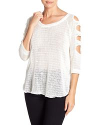 Sweet Romeo - Cutout Sleeve Sweater - Lyst
