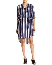 Acrobat - Cabana Stripe Shirttail Hem Dress - Lyst