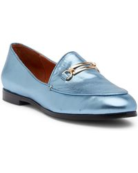 Matiko - Leslie Metallic Leather Loafer - Lyst