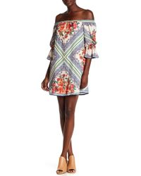 Jealous Tomato - Off-the-shoulder Printed Dress - Lyst