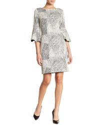 Sharagano - Textured Knit Dress (petite) - Lyst