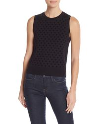 Marc Jacobs - Flocked Polka Dot Wool Knit Tank - Lyst