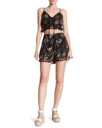 Dress Forum Tasseled High Rise Shorts