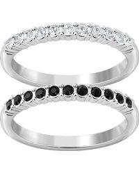 Swarovski - Crystal Mixed Ring Set - Size 7 - Lyst