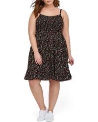 Michel Studio - Floral Print Fit & Flare Dress (plus Size) - Lyst