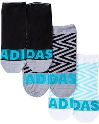 adidas - Adigraphic No Show Socks - Pack Of 3 - Lyst