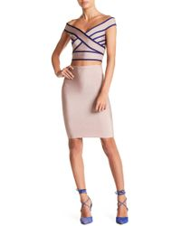 Wow Couture - Seamed Top & Skirt 2-piece Set - Lyst