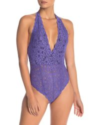 Free People - Intimately Fp Avery Lace Bodysuit - Lyst