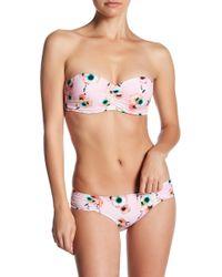 Seafolly - Cabana Rose Bustier Bandeau Bikini Top - Lyst