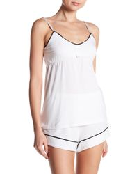Barefoot Dreams - Bow Applique Luxe Milk Jersey Cami - Lyst