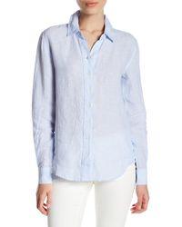 Workshop - Long Sleeve Linen Button Up Shirt (petite) - Lyst