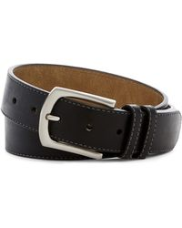 Steve Madden - Double Keeper Stitched Leather Belt - Lyst